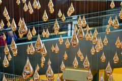 Kinetyczny deszcz przy Changi lotniskiem w Singapur Zdjęcia Royalty Free