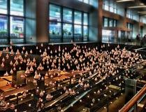 kinetyczny sztuki rzeźby @ Changi lotnisko, Singapur Zdjęcia Stock