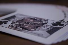 Kinf de clubs foto de archivo libre de regalías