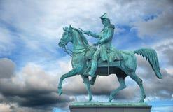 King. Statue of Charles XIV John (Karl XIV Johan), King of Sweden, by Bengt Erland Fogelberg. Slussplan, Stockholm, Sweden stock image