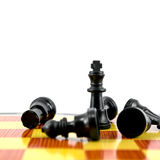 King. Black chess king, the most of strength isolated on white background Royalty Free Stock Image