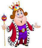 King. Illustration of a friendly king Stock Images