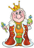 King. Isolated clip-art and children's illustration for yours design, postcard, album, cover, scrapbook, etc Stock Photo