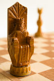 King. Chess king on chess board Stock Image