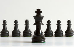 King. Of chess in the middle Royalty Free Stock Photography