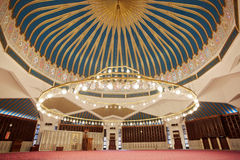 King Abdullah I mosque interior in Amman Royalty Free Stock Images