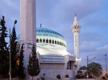 King Abdullah Mosque at night in Amman, Jordan Stock Images