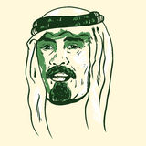 King Abdullah portrait Stock Photo