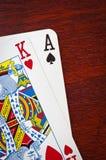A king and an ace Stock Photos