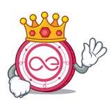 King Aeternity coin mascot cartoon. Vector illustration Royalty Free Stock Photo