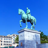 King Albert Bronze Statue, Brussels Stock Photo