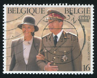 King Albert II and Queen Paola Royalty Free Stock Image