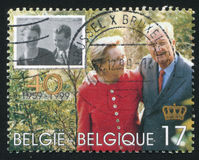 King Albert and Queen Paola Royalty Free Stock Image