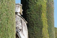 King in the alcazar de los Reyes Cristianos Stock Images