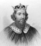 King Alfred the Great. (849-899) on engraving from the 1800s. King of the Anglo-Saxon kingdom of Wessex from 871 to 899. Noted for his defense of the Anglo Royalty Free Stock Photos