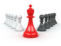 King And Pawns. Leadership Royalty Free Stock Image