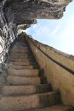 King Aragon Steps, Bonifacio Stock Photos