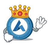 King Ardor coin mascot cartoon. Vector illustration Royalty Free Stock Photos