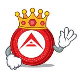 King Ark coin mascot cartoon. Vector illustration Stock Images