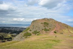 King Arthur`s Hill, Edinburgh Royalty Free Stock Photos