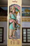 King Ashoka in Bharat Mandir Royalty Free Stock Photos