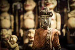 King of the asia dolls. Figure of asian painted doll toy Royalty Free Stock Image