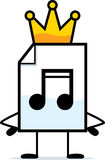 King Audio File. A cartoon illustration of an audio file with a crown Stock Image