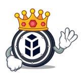 King bancor coin mascot cartoon. Vector illustration Royalty Free Stock Images