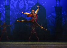 """The king of battle- ballet """"One Thousand and One Nights"""" Royalty Free Stock Images"""