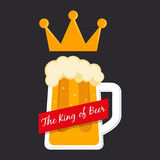 The King of Beer Symbol Stock Photography