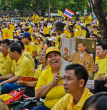 King Bhumibol 85 th birthday celebration Royalty Free Stock Image