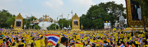 King Bhumibol 85 th birthday celebration Royalty Free Stock Photos