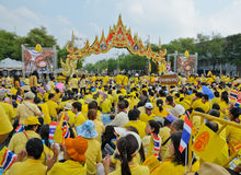 King Bhumibol 85 th birthday celebration Stock Image