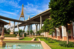 King Bhumibol Bridge Royalty Free Stock Photos