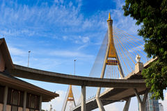 King Bhumibol Bridge Stock Images