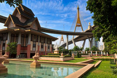 King Bhumibol Bridge Royalty Free Stock Image