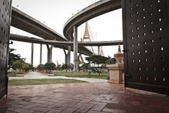 King Bhumibol Bridge Royalty Free Stock Photography