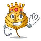 King birch leaves next the cartoon tree. Vector illustration royalty free illustration