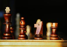 King, Bishop, Knight, and Rook Royalty Free Stock Image