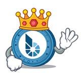 King BitShares coin mascot cartoon. Vector illustration Royalty Free Stock Image