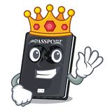 King black passport isolated with the cartoons. Vector illustration stock illustration