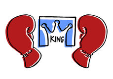 King boxing emblem Stock Image