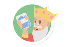 A King Bring Blue Blood Vector stock photos