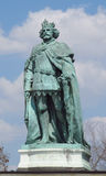 King bronze statue on Heroes Square in Budapesht, Hungary Stock Photography