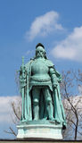 King bronze statue on Heroes Square in Budapesht, Hungary Royalty Free Stock Images
