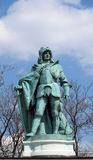 King bronze statue on Heroes Square in Budapesht, Hungary Royalty Free Stock Photography