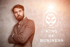 King of business with a beard Royalty Free Stock Image