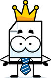 King Business File. A cartoon illustration of a business file with a crown Royalty Free Stock Photography