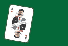 King of Business playing card Royalty Free Stock Photography
