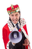 King businessman in funny concept isolated Stock Photography